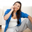 Happy phone call — Stock Photo