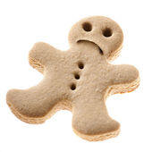 Sad Gingerbread man cookie — Stock Photo
