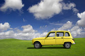 Yellow funny car — Stock Photo