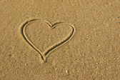 Love Heart on the Sand — Stock Photo