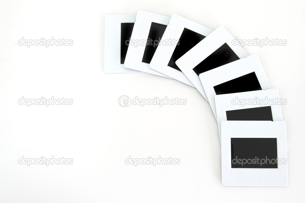 Diapositiv films series in a white background — Stock Photo #4939469