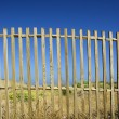Fences in blue - Stock Photo