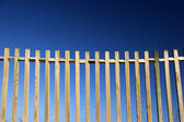 Fences in blue — Stock Photo