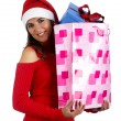 Santa Girl with gifts — Stock Photo #5063419