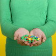 Woman with candys — Stock Photo #5063545