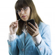 Businesswoman with a Pda — Stock Photo #5063822
