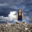 Yoga vrouw — Stockfoto
