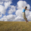Stock Photo: Happiness jump