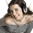 Listening music - Stock Photo