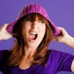Beautiful woman yelling — Stock Photo #5065762