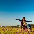 Handicapped woman on wheelchair — Stock Photo #5066635