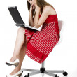 Laptop woman — Stock Photo