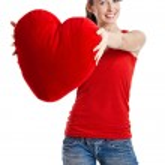 Valentine woman — Stock Photo