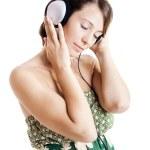 Listen music — Stock Photo
