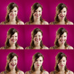 diferent expressies — Stockfoto