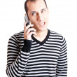 Stock Photo: Talking on cellphone