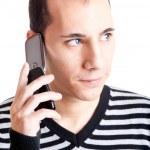 hablar por celular — Foto de Stock