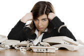 Stressful work — Stock Photo