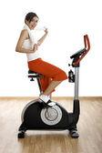 Gym exercise — Stock Photo
