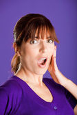 Astonished woman — Stock Photo
