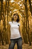 žena v parku — Stock fotografie