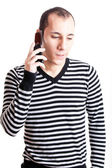 Talking on cellphone — Stock Photo