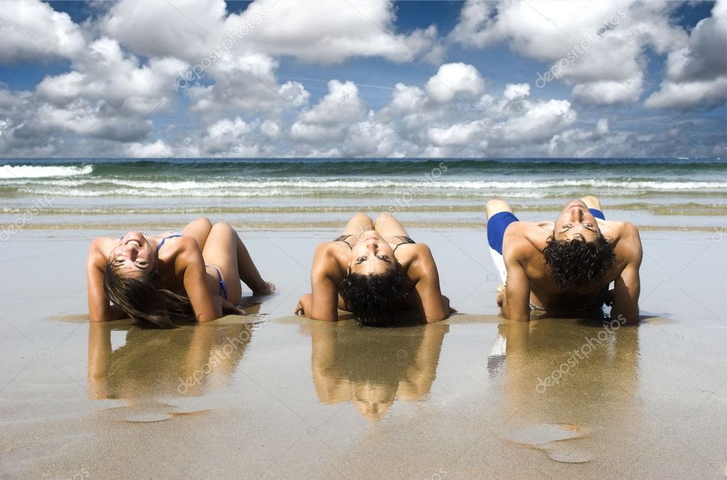Friends on the beach — Stock Photo © ikostudio #5063124
