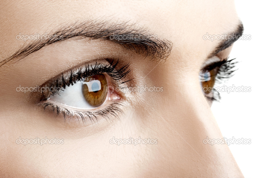 Close-up portrait of a beautiful female eyes — Stock Photo #5064912