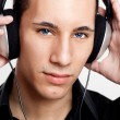 Listen music — Stock Photo