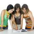 Stock Photo: Girls reading a book