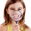 Showing teethes — Stock Photo