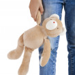 Alone with her teddy bear — Stock Photo #5072949