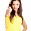 Young girl with thumbs down — Stock Photo #5073040