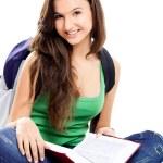 Happy female student — Stock Photo #5073223