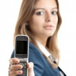Business woman using a cell phone — Stock Photo