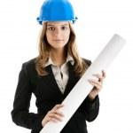Beautiful female architect — Stock Photo #5073852