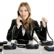Helpdesk line - Stockfoto