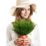 Ecologic woman — Stock Photo