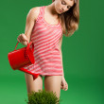 Female young gardener — Stock Photo
