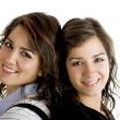 Beautiful female twins — Stock Photo