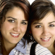 Stock Photo: Beautiful female twins