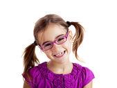 戴着眼镜的女孩 — 图库照片