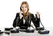 Helpdesk line — Stock Photo