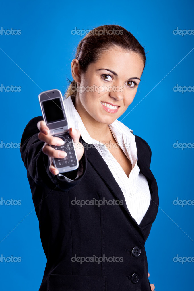 Beautiful young businesswoman calling by cellular phone. — Stock Photo #5072367