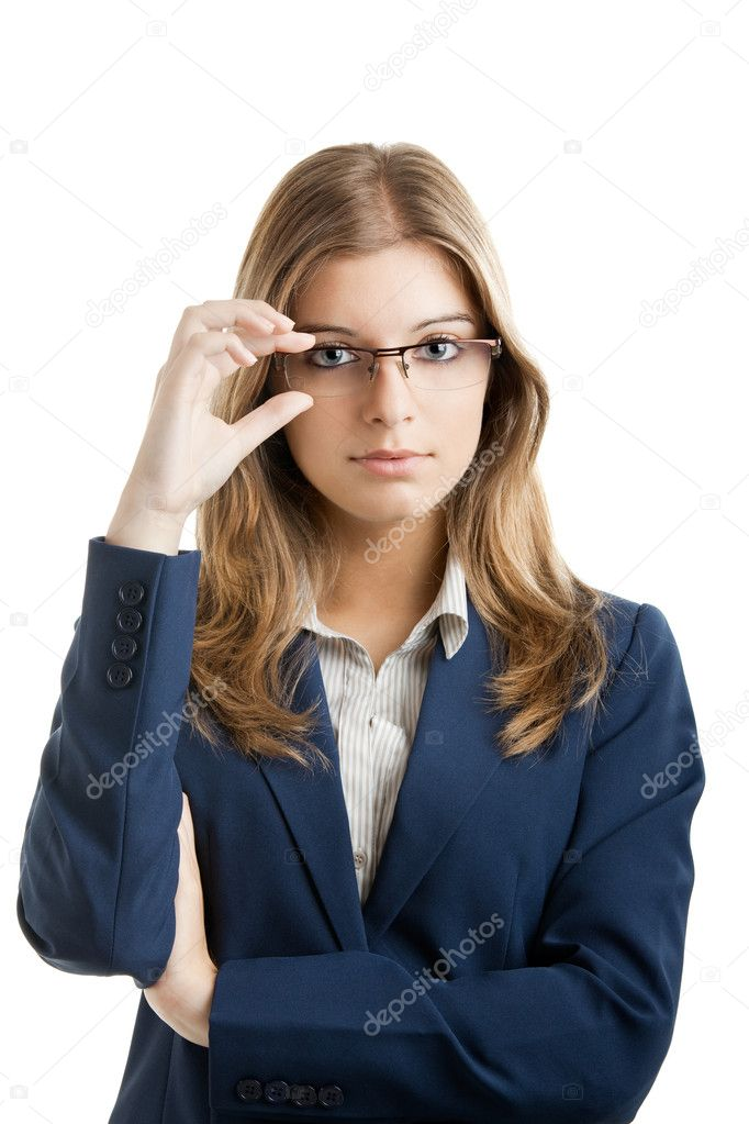 Portrait of a young and beautiful business woman. — Stock Photo #5073806