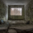 Abandoned window interior — Stock Photo