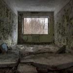 Abandoned window interior — Stock Photo