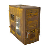 Rusted PC case closed — Stock Photo