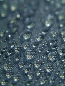 Water bubbles on fabric — Stock Photo