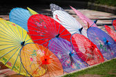 Colorful Chinese unbrellas — Stock Photo